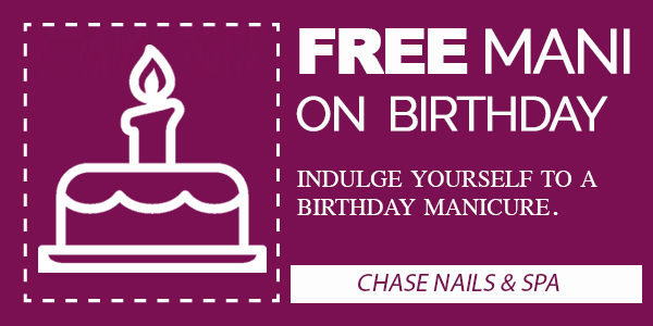 FREE MANICURE ON YOUR BIRTHDAY